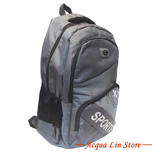 Unisex Sport Backpack, Gray Color