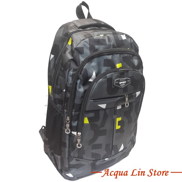CT268 Sports Travel Leisure Backpack, Black Color