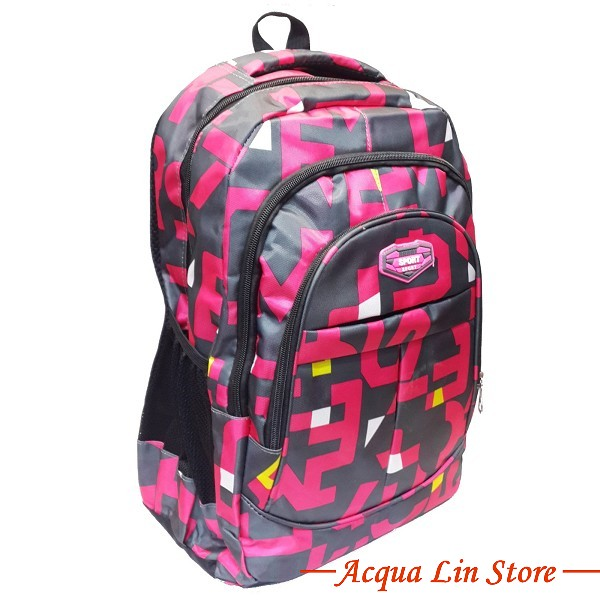 CT268 Sports Travel Leisure Backpack, Pink Color