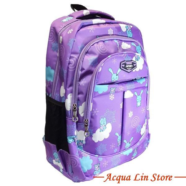 CT406 Sports Travel Leisure Backpack, Violet Color