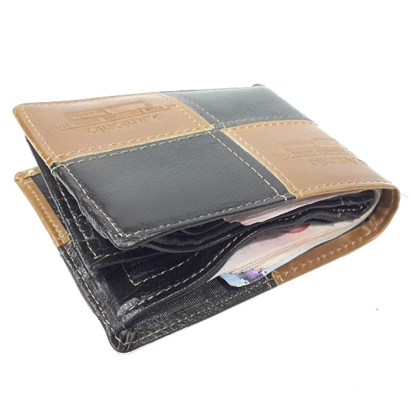 A.Antonio men leather wallet, bifold design, #3622C