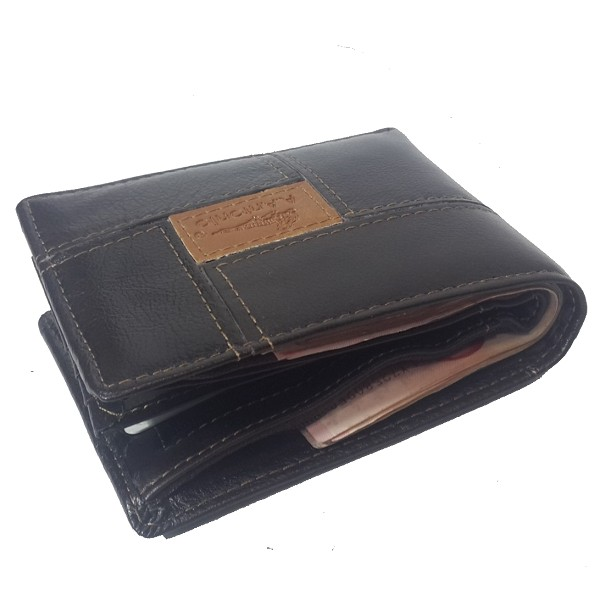 A.Antonio men leather wallet, bifold design, #A206-1