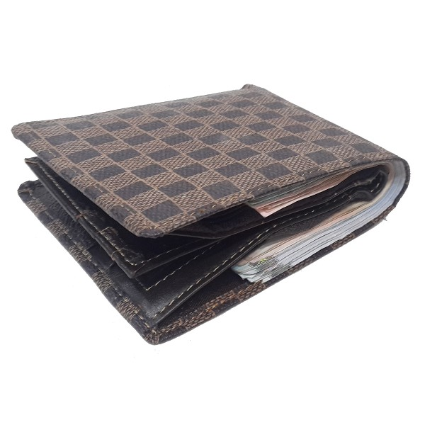 A.Antonio men leather wallet, block design,