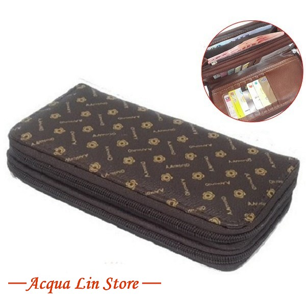 Women Dual Zipper Wallet, item 020_917