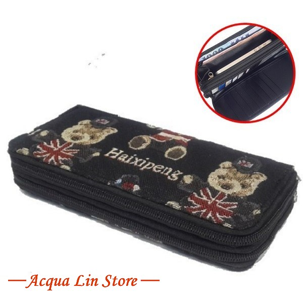 Women Dual Zipper Wallet, item 020_932