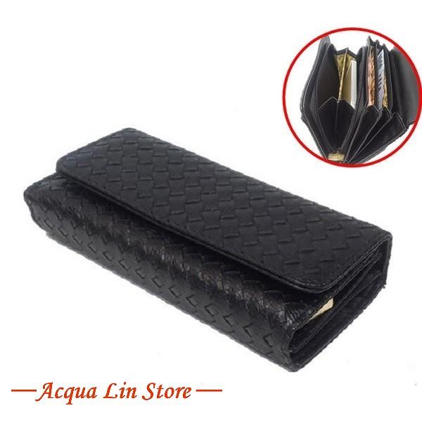 A.Antonio Women Wallet, Bamboo Design, #070B Black