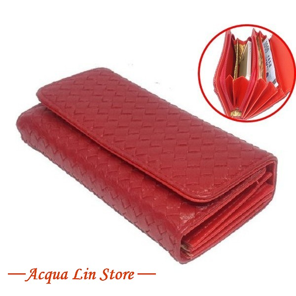 A.Antonio Women Wallet, Bamboo Design, #070B Red