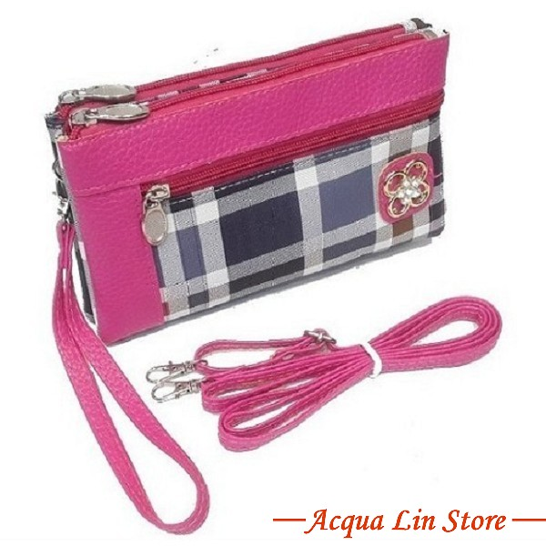 Clutch Bag #6745, Pink Color