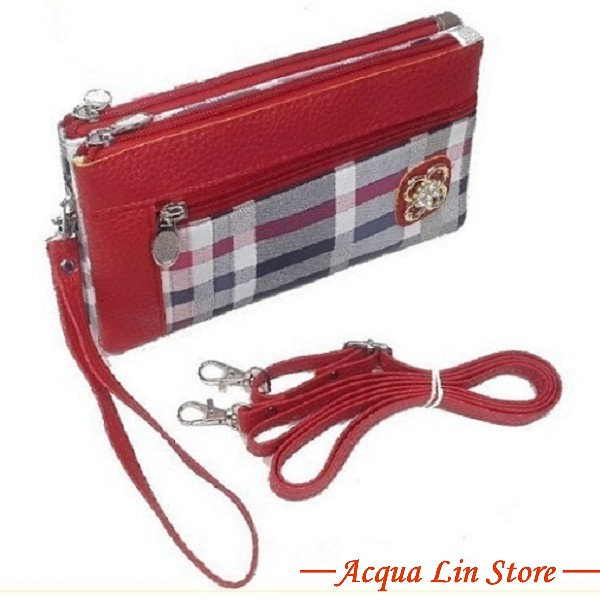 Clutch Bag #6745, Red Color