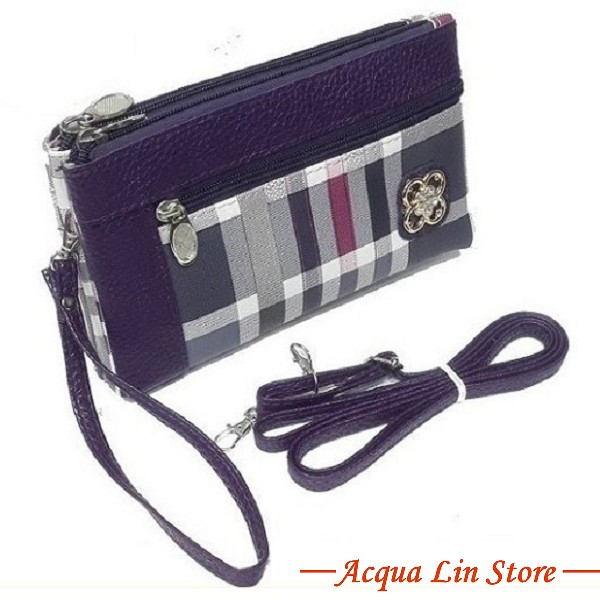 Clutch Bag #6745, Violet Color
