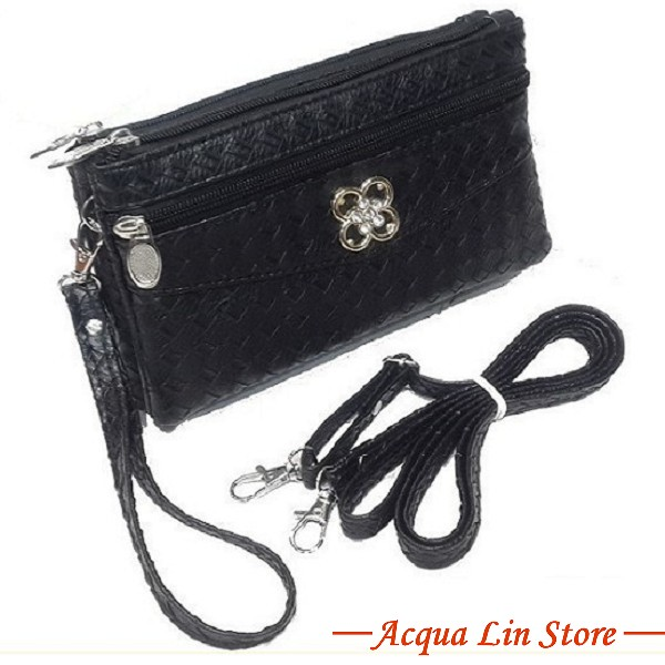 Clutch Bag #6780, Black Color