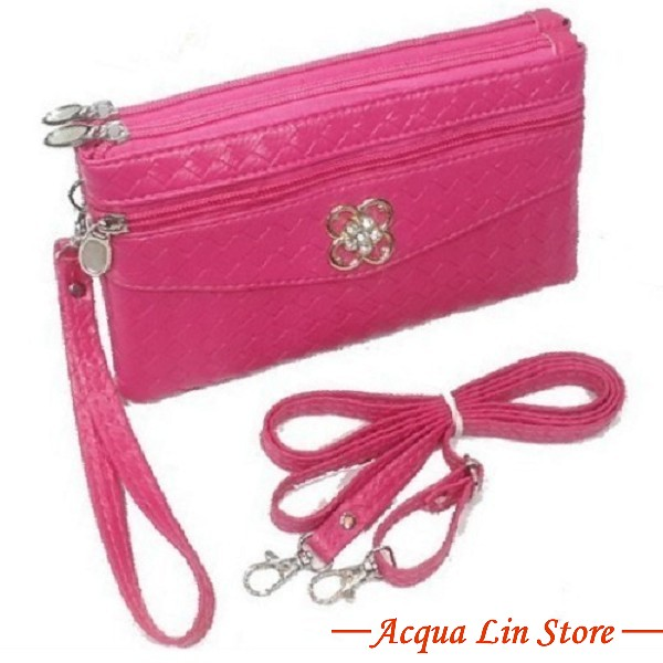 Clutch Bag #6780, Pink Color
