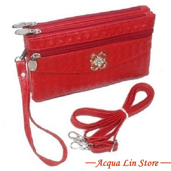 Clutch Bag #6780, Red Color